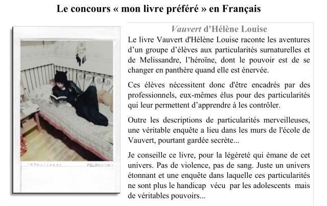 Clémentine F et Vauvert